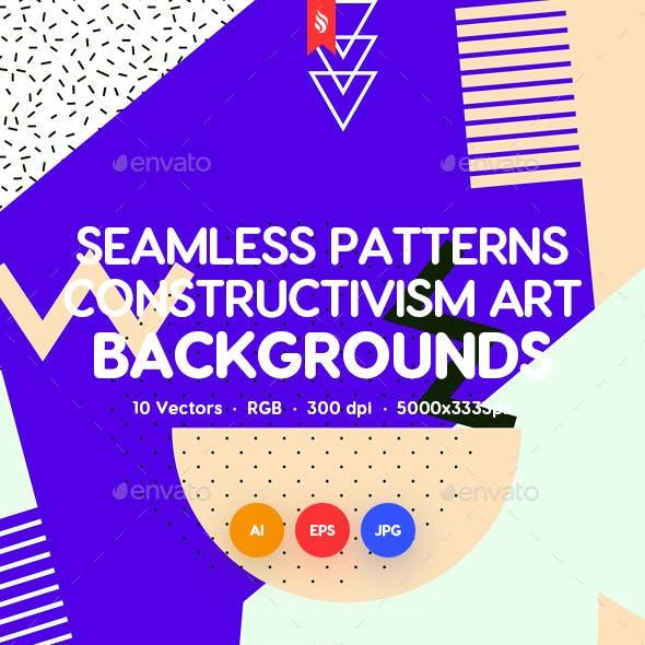 Seamless Patterns of Constructivism Art Backgrounds