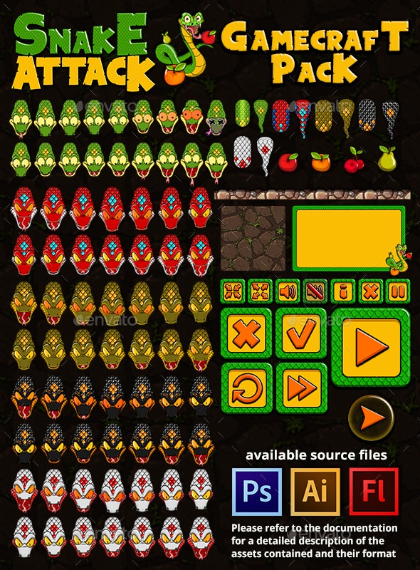 Snake Attack - Game Assets - Game Kits Game Assets