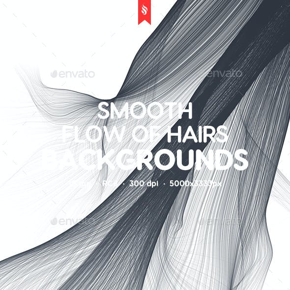 Abstract Smooth Flow of Hairs Backgrounds