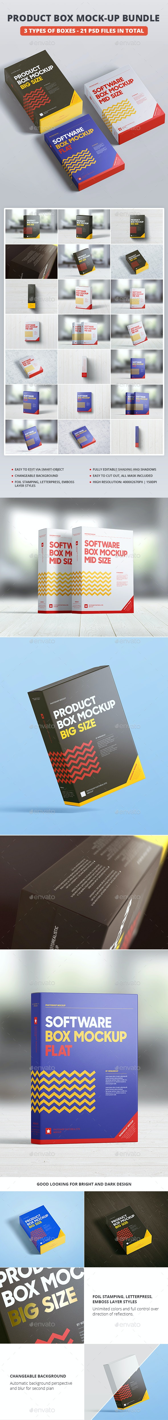 Product Box Mock-up Bundle - Miscellaneous Packaging