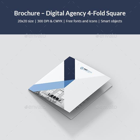 Brochure – Digital Agency 4-Fold Square