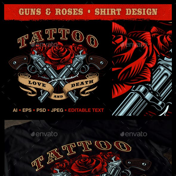 Guns and Roses Design.
