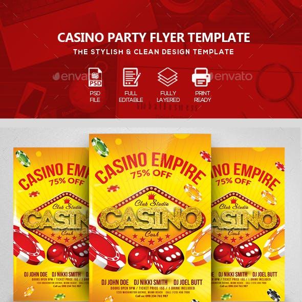 Casino Club Flyers