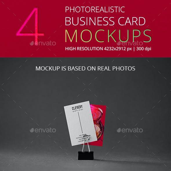Photorealistic Business Card Mockup Vol 3.0