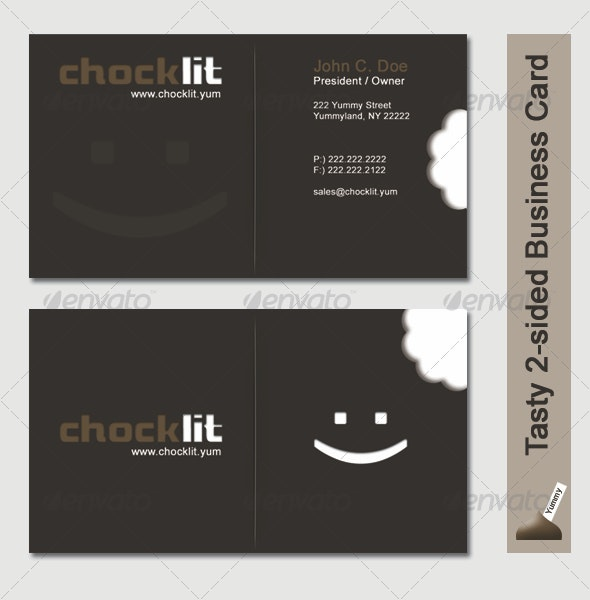 Tasty 2-sided Business Card - Yummy - Industry Specific Business Cards