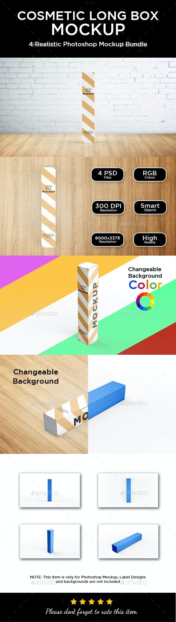 Long Box Mockup - Packaging Product Mock-Ups