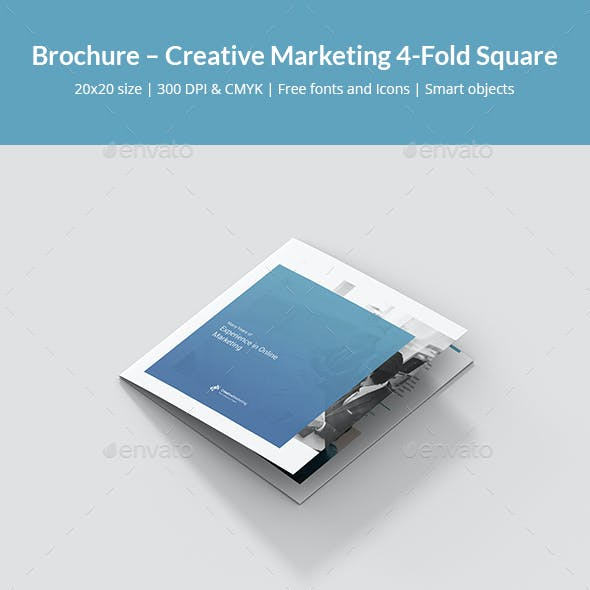 Brochure – Creative Marketing 4-Fold Square