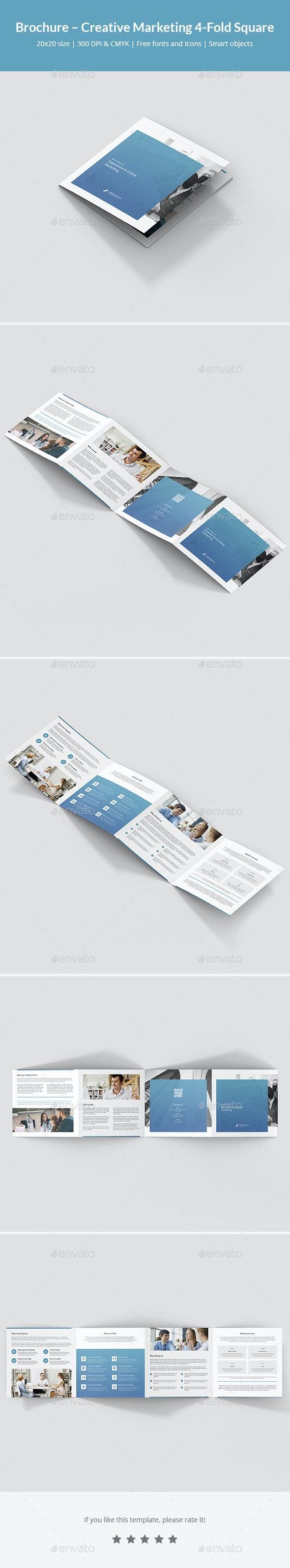 Brochure – Creative Marketing 4-Fold Square - Corporate Brochures
