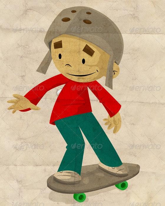 Skateboarder - People Illustrations