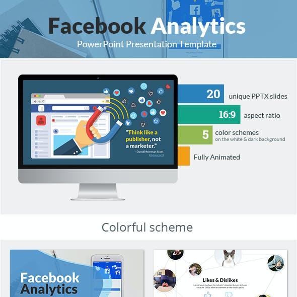 Facebook Analytics PowerPoint Presentation Template