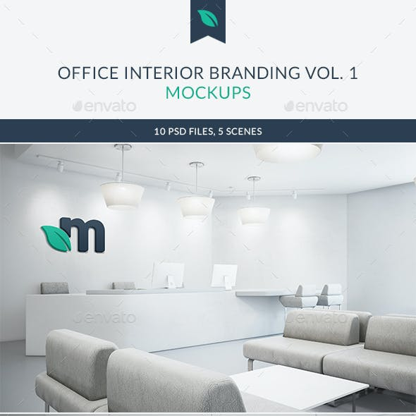 Office Interior Branding Mockups Vol.1