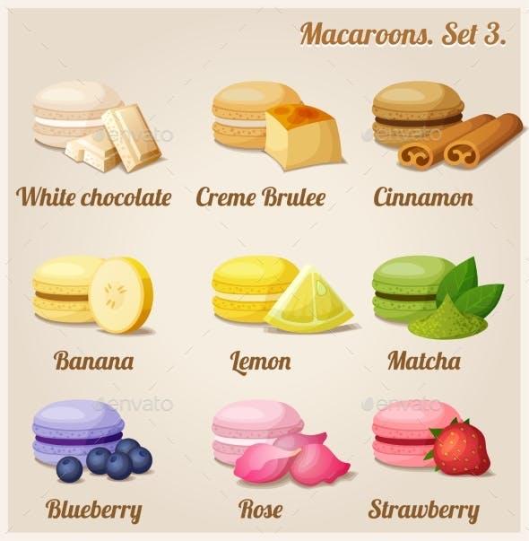 Macaroons. Set 3.
