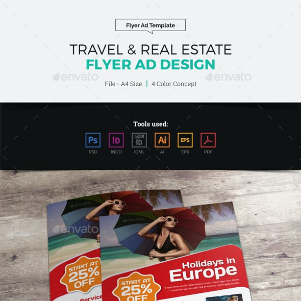 Travel Real Estate Flyer Ad Design