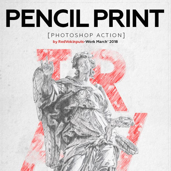 Pencil Print Photoshop Action