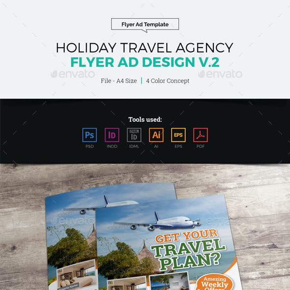 Travel Agency Flyer Ad Design v2