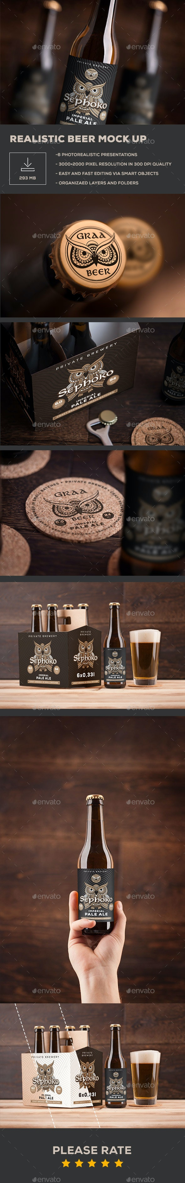 Beer Mock up - Food and Drink Packaging