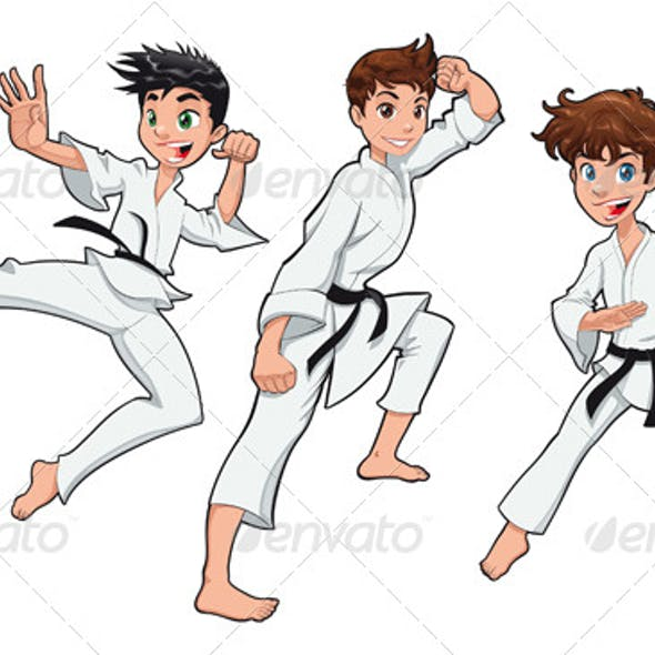 Young boy, Karate Player
