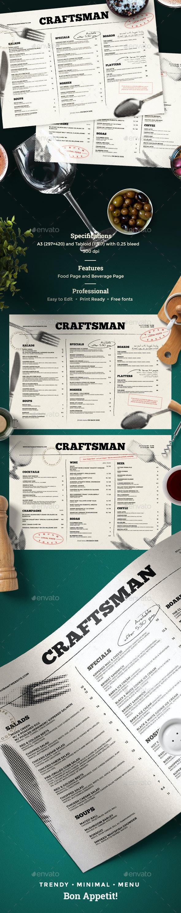 Food and Drinks Menu - Food Menus Print Templates