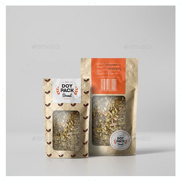 Doypack Coffee Brand Mock up