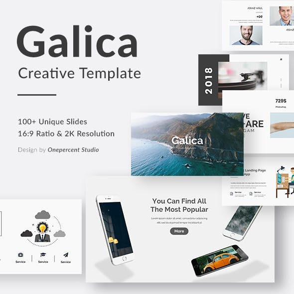 Galica Creative Keynote Template