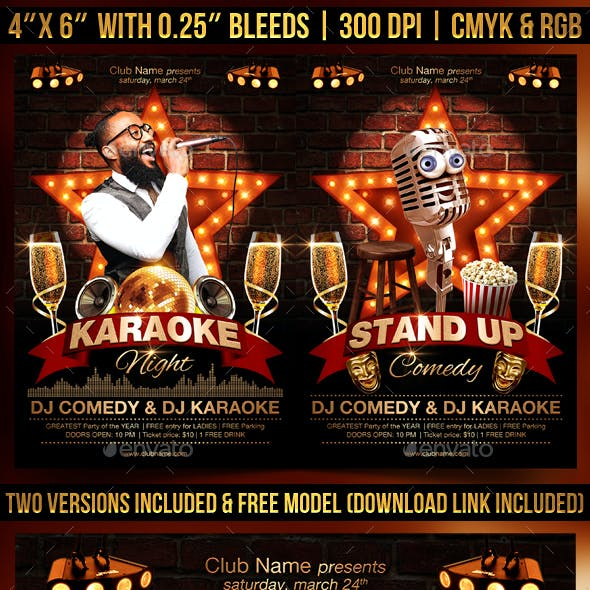 Karaoke and Comedy Flyer