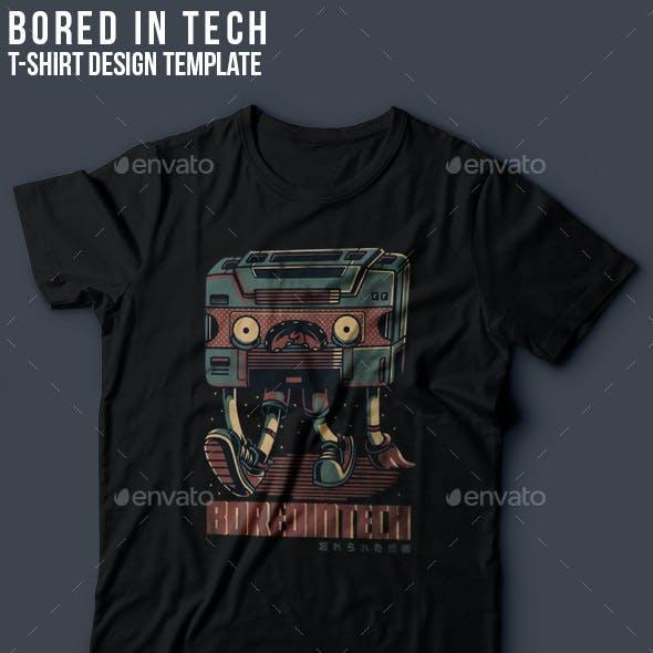 Bored in Tech T-Shirt Design