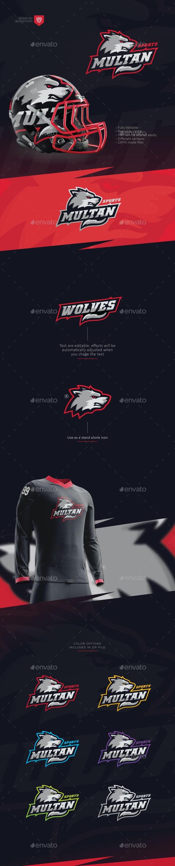 Wolf Sports Logo - Sports Logo Templates