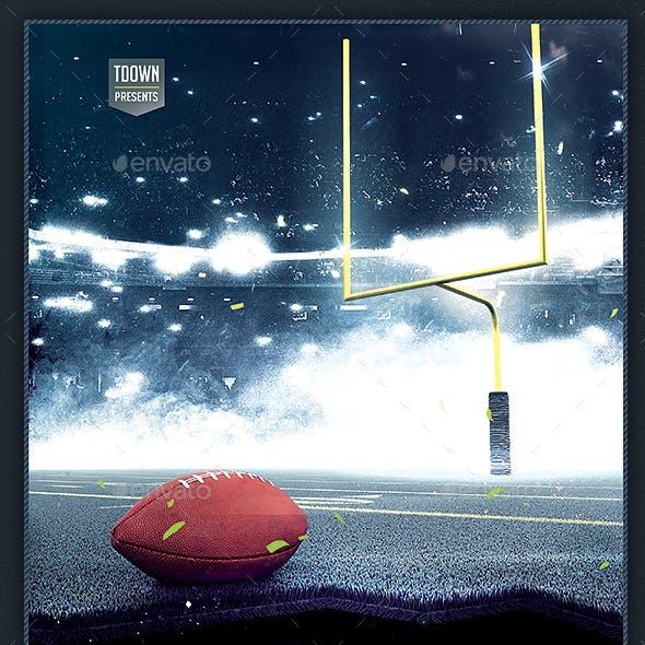 American Football Flyer - Football Night Poster 8.5x14 Design Template