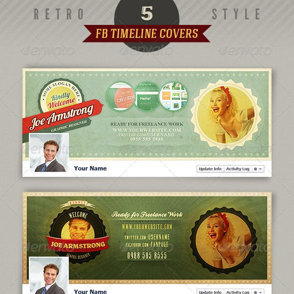 5 Retro Facebook Timeline Covers