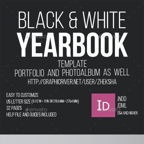 Black and White Yearbook