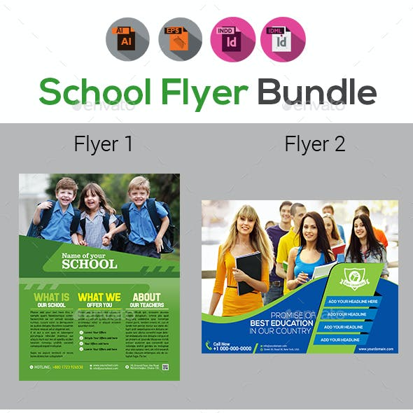 School Flyer Bundle Templates