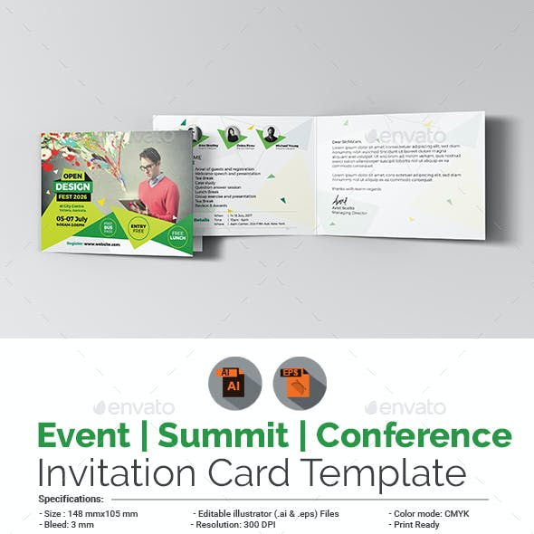 Event/Summit/Conference Invitation Card Template