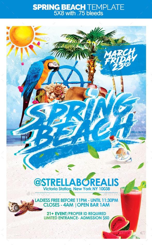 Spring Beach - Flyers Print Templates