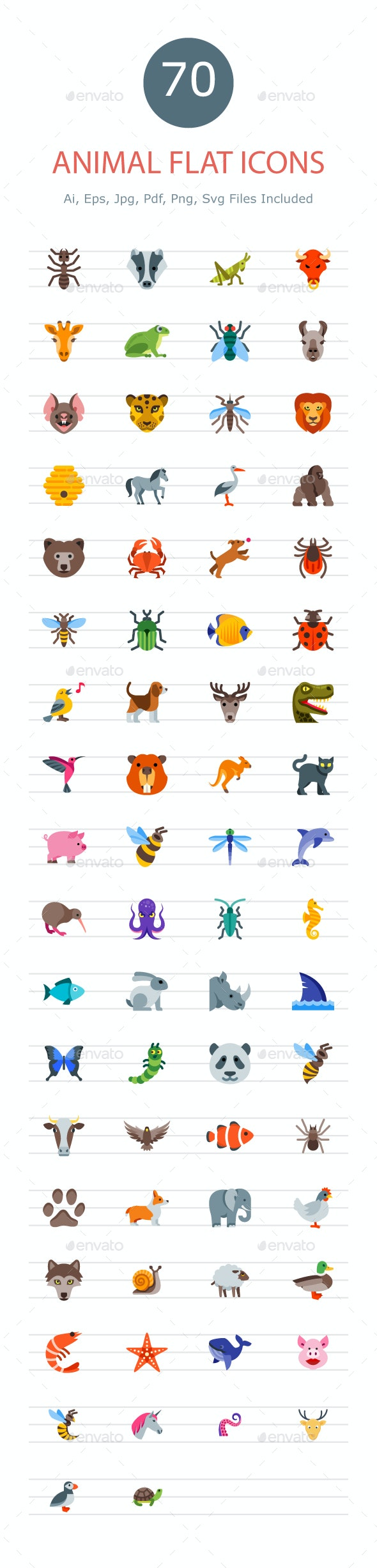 Animal & Birds Icons - Animals Characters