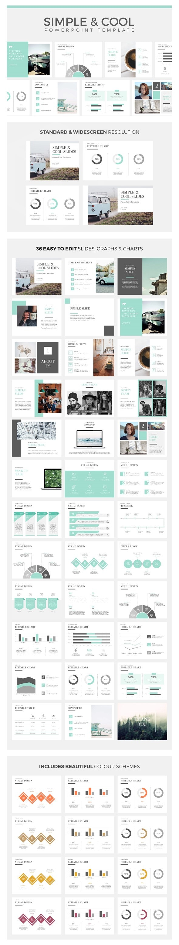 Simple & Cool PowerPoint Template - Creative PowerPoint Templates