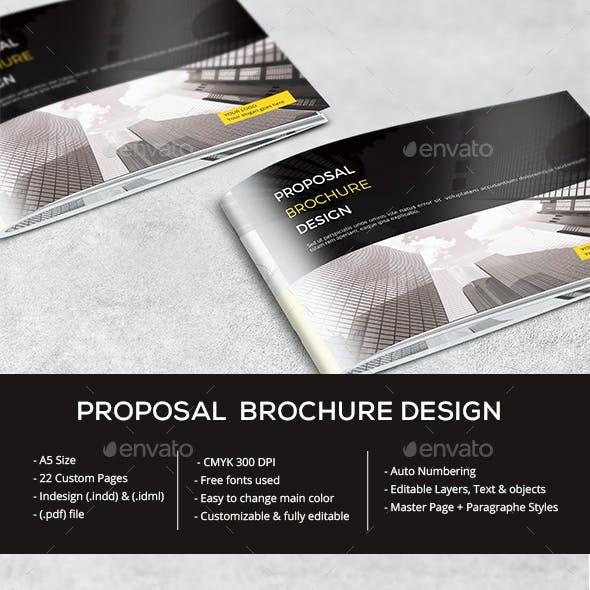 A5 Clean Proposal Brochure