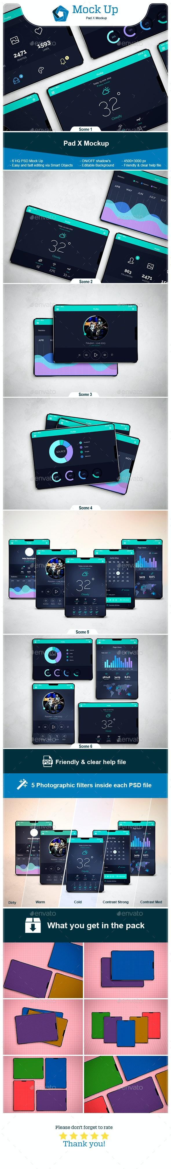 Pad X Mockup - Mobile Displays