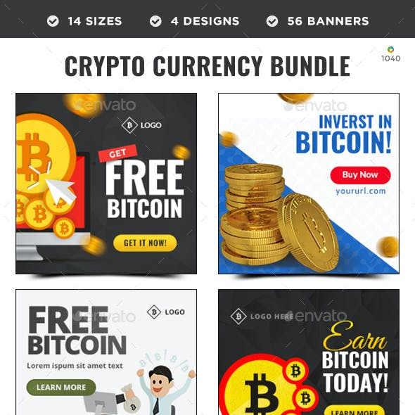 Crypto Currency Banners Bundle - 4 Sets - 56 Banners