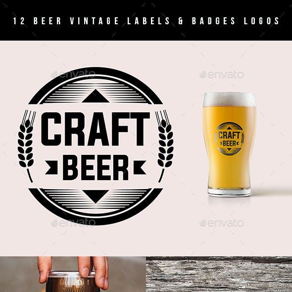 Beer Vintage Labels & Badges Logos