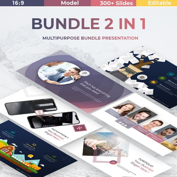 Bundle Premium 2 in 1 - Business Powerpoint Template