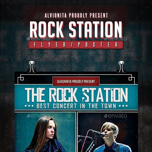 Rock Station Flyer / Poster