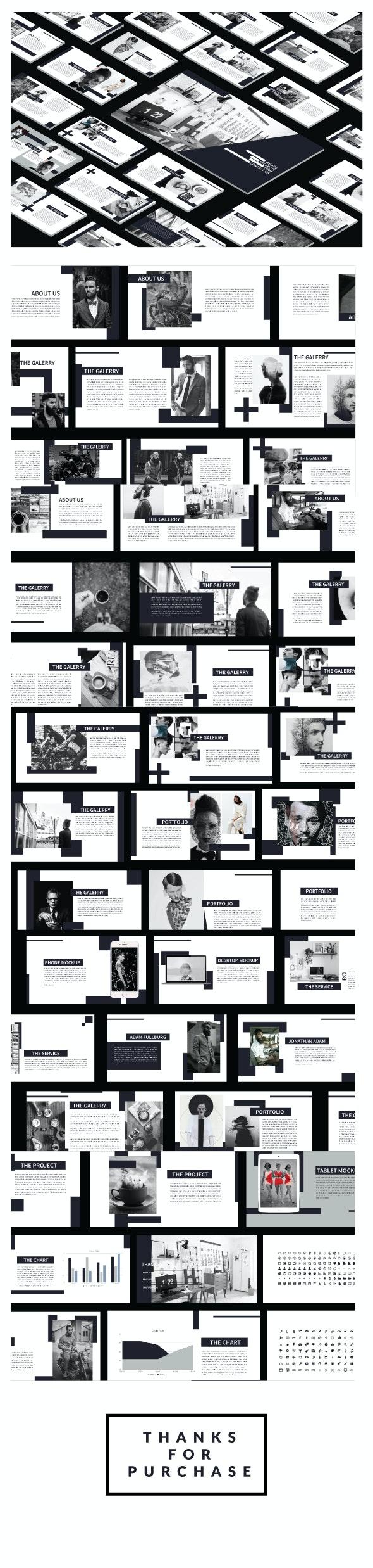 Minimal Black Keynote - Abstract Keynote Templates