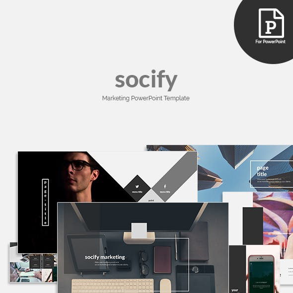 Socify - Marketing PowerPoint Template