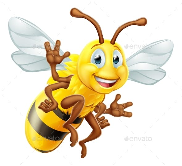Honey Bee Cartoon Character