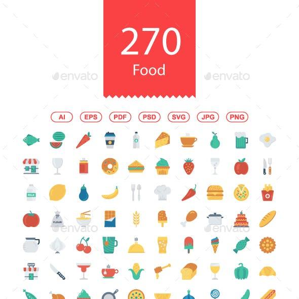 250+ Food Flat Icons