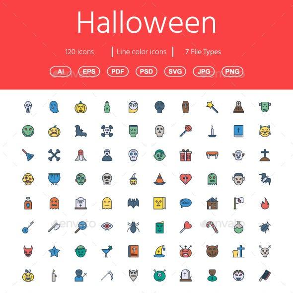100+ Halloween Flat Icons