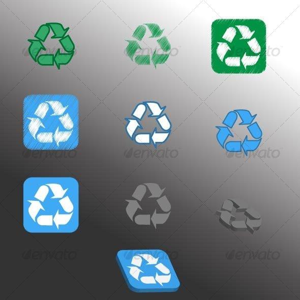 Recycle signs - Decorative Symbols Decorative
