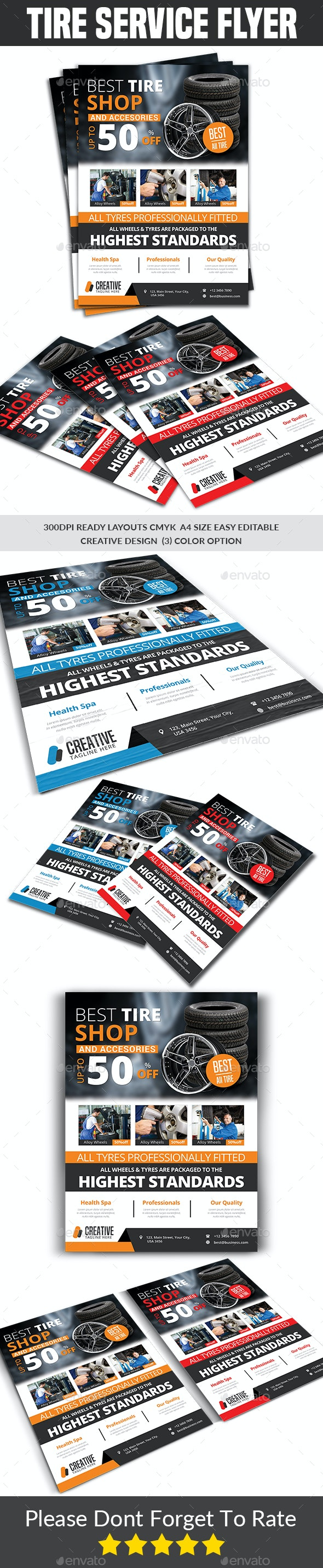 Tires Services Flyer Template - Commerce Flyers