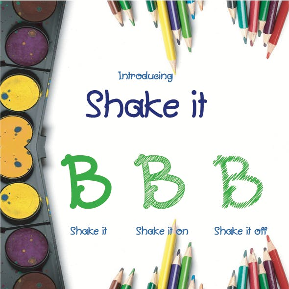 Shake it (3 Fonts)