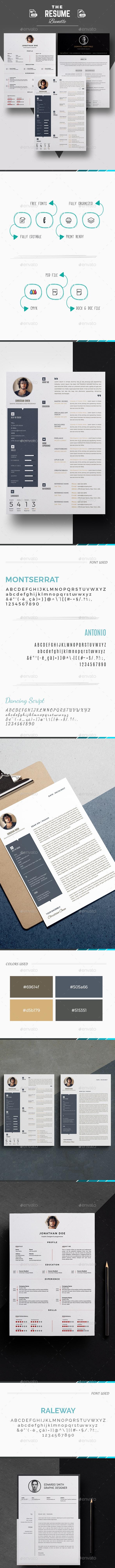 3 Cv/Resume Template Bundle - Resumes Stationery